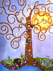 ethan altshuler Klimpt inspired Tree of Life 2014
