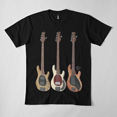 Justin Hills Ernie Ball Music Man 5-String Basses Relaxed Fit T-Shirt