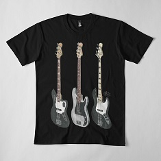 Mikey Way's Fender Basses for The Black Parade Relaxed Fit T-Shirt