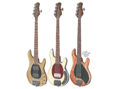 Justin Hills Ernie Ball Music Man 5-String Basses