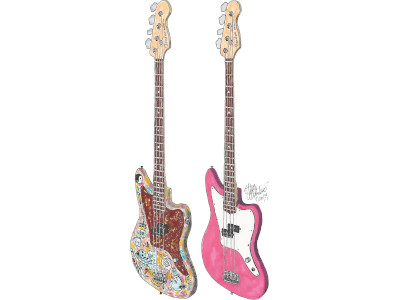 Mark Hoppus' Fender Matty Baratto Jaguar Basses