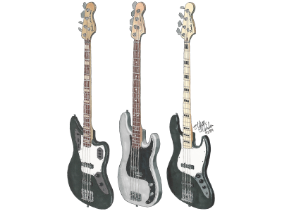 Mikey Way's Fender Basses from the Black Parade