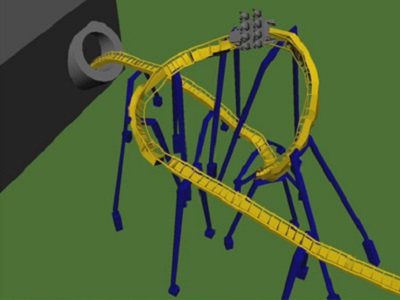 Animated Roller Coaster Ride